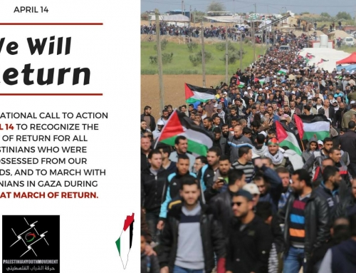 Transnational Great Return March – Bay Area April 14 in SF