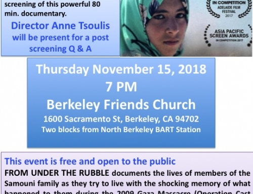 "Berkeley, CA: ""From Under the Rubble – A Story from Gaza"" Film Screening"