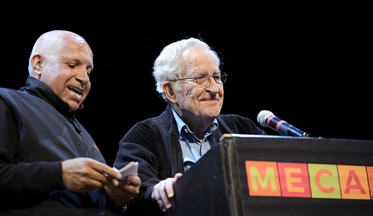 Noam Chomsky with MECA Director Zeiad Abbas Shamrouch