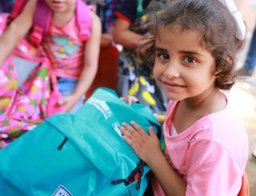 VIDEO: New Backpacks for Palestinian Children in Gaza
