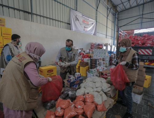 Distribution Begins of Ramadan Food Parcels in Gaza!