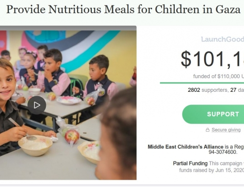 PaliRoots Raises more than $100,000 to Provide Nutritious Meals for Children in Gaza