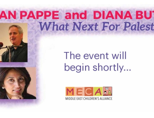 "VIDEO: Recording of MECA event with Ilan Pappe & Diana Buttu ""What Next for Palestine"""