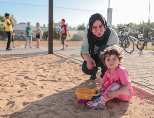 Heartwarming visit to our playground in Khuza'a, Gaza